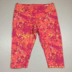 ZELLA Multi Colored Cropped Leggings Active Wear